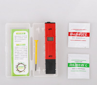 Wholesale aquarium ph test pen for sale - Group buy 20pcs with box Home PH Tester ATC Meter PH Value Test LCD Tester Pocket Pen Aquarium Water Tester