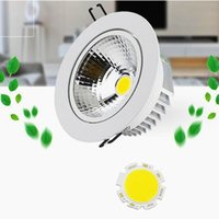 Dimmable 9W 12W 15W 18W 21W Led Downlights 120 Angle High Bright COB Warm / Cool White Led Recessed Down Lights + Power Drivers