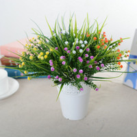 Wholesale Cheapest Fake Flowers - CHEAPEST!!gypsophila fake silk flowers artificial babybreath bride bouquet flower plant home wedding Valentine's day Christmas decorations