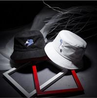 Wholesale Cute Christmas Hats - 2016 new cute rabbit fur ball bucket hat fisherman hat men hat summer hat tidal flat top Size M (56-58cm)
