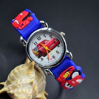 Wholesale Watch Boy Girl Children Fashion - 3D Cartoon Lovely Kids Girls Boys Children Students traffic tools car Quartz Wrist Watch Very Popular