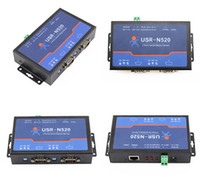 Wholesale Gateway Ethernet - [USR-N520] 2 -Ports Ethernet to Serial converter with RS232 RS485 RS422 port, modbus gateway