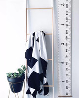 Wholesale height stickers - INS Height Ruler Hanging Decoration Adult Kids Growth Size Chart Measurement simple Ruler Wall Sticker Home Decorative Gift 4styles