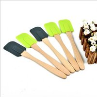 Silicone Rubber specialty foods - Kitchenware Silicone spatula with wooden handle butter baking supplies specialty food grade silicone baking butter knife