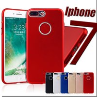 Wholesale Hole Metal Cover - Spray Paint TPU Soft Back Case For Iphone 7 plus Back Cover With Metal Hole Button Cover Case for iphone 7 6S SE 5S Samsung S8 Plus 10pcs