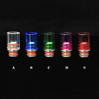 Wholesale Hot Rad - HOT!! Colorful Glass Pyrex drip tip Stainless steel Wide Bore 510 Drip Tips fit 510 RAD RBA plus subtank OCC mini Nano mechanical mod tank