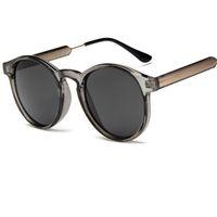 Wholesale Transparent Beach Wrap - 2017 New Round Glasses Candy Color Fashion Women Sunglasses Transparent Frame Sun glasses Men Anti-UV lentes de sol hombre Y58