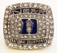 Wholesale Great Universities - Free Shipping Bottom Price for Replica Newest Design 2015 Duke Blue Devils University Championship Ring for Fans NCAA