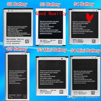 Wholesale S3 Batteries - Cheapest Can Mixed Order Battery Top Quality For Samsung Galaxy S2 S3 S3mini S4 S4 mini S5 Battery Note1 Note 2 Note 3 Note 4 Battery Accu