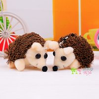 Wholesale Cute Hedgehogs Doll - Wholesale-New cartoon cute hedgehog plush toy doll gift ornaments New Year gift keychain students