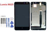 pantalla táctil lumia 625 al por mayor-Pantalla LCD + Conjunto de digitalizador de pantalla táctil con marco para Nokia Lumia 625 N625 Montaje LCD Prueba aprobada 100% Original nuevo 1pcs / lote
