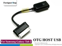 Wholesale-500 pc / lotto per Samsung Galaxy Tab 2 7.0 Note 10.1 8.9 P5100 P3100 P7500 P7510 P7300 P7310 CONNESSIONE USB KIT OTG cavo ospite