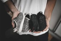 Wholesale Boys Diving - Infant boost 350 shoes Kanye Milan boosts pirate black casual wear kids running shoes Turtle Dove designer Children casual shoes for boy gir