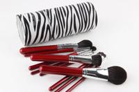 xícara de cosméticos xícara venda por atacado-Novo 2017 Professional Makeup Brush Set 10 Pcs Cosméticos Sintéticos Pincéis de Alta Qualidade Make Up Pincéis com Pu Escova Cup