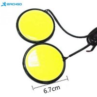 High Quality 2Pcs 67mm 120 COB LED Pure White Car Auto Round DRL Daytime Running Light Driving Fog Source da lâmpada DC12V-24V