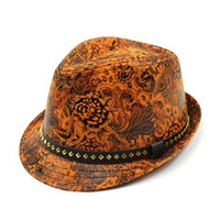 Wholesale Male Bucket Hats - Wholesale-New Brand Pu Leather Unisex Fedoras Fashion Man Outdoor Bucket Hat Spirng Leather Male Bucket Top Cap Female Cool Sombrero