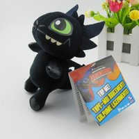 Wholesale Dragon Toothless Plush - 16cm Night Fury Plush Toy How to Train Your Dragon Toothless Toys Plush Dolls Toys for baby boys girls kids children