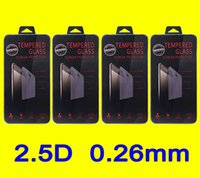 Wholesale Screen Protector S4 Gorilla - 0.26mm 2.5D 9H Gorilla Tempered Glass Screen PROTECTOR Screen Guard FOR IPHONE 6 6+ 5 5S 5C PLUS Galaxy S4 S5 S6 NOTE 5 4 3 WITH RETAIL BOX