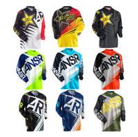 Wholesale Lycra Shirts Men - Free ship Men style road motorcycle jerseys motocross T shirts Downhill dirt bike sweatshirt racing riding jerseys factory slaes