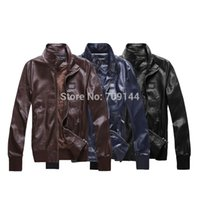 Wholesale Hoody Leather Jackets - Fall-New with hoody and fur lining motorcycle jackets men leather jackets and coats Brand Stand Collar leather jacket