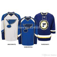 Wholesale China Nhl - 2016 Customize jerseys St. Louis Blues jersey nhl jerseys china Home Away Alternate Embroidery Logo Sew on Any Name & NO. YS-6XL