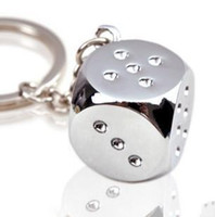 Wholesale Fair Gift - Creative new Metal Keychain key buckle individual dice genuine goods at a fair price creative gift A156