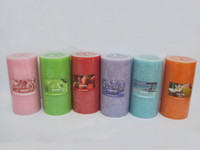 Wholesale holiday flameless candles for sale - Group buy 25 Hours Burning time Scented Candles Pillar Candle With A Variety Of Fragrance Aroma Paraffin Wax Aromatherapy Pillar Candles P C
