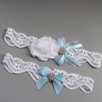 Wholesale Lingerie Lace Light Blue - Something Blue Wedding Garter with Jewels, Wedding Garter Set, Bridal Garter Set, Rhinestone Garter, Wedding Garder, Bridal Lingerie