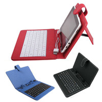 Wholesale inch tablet holster online - 7 inch Q88 tablets universal holster with the keyboard Folding Folio Case DHL