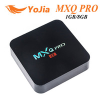 Wholesale Pro Wholesale - MXQ Pro Rockchip RK3229 Quad Core Android TV BOX 1GB 8GB 2.4GHz WiFi H.265 Full HD