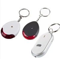 Wholesale Key Ring Finder Whistle - hot sale key rings Wireless flashing whistle key finder led light cute anti lost electronic keyChain