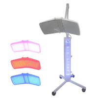 Wholesale Led Red Blue Light Therapy - Top quality Floor Standing Professional led pdt bio-light therapy machine Red light +Blue light + Infrared light therapy