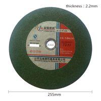 Wholesale Cut Diameter - 255mm * 2.2mm Diameter Green Resin Cutting Machine Tools Abrasive Disc Corundum Cutting Disc Kit Set 80pcs set