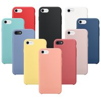 Wholesale Mint Candy Color - For iPhone X Silicone Candy Color Slim Ultra Thin Rubber Solid Shockproof Protection Cover Case For iPhone 6 6S 7 8 Plus OPP BAG