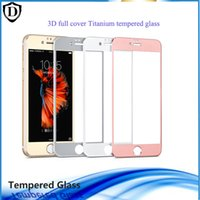 Wholesale Screen Protector Inches - 3D Curved HD Tempered Glass For iPhone 6 6s 4.7 inch Premium Real 9H Carbon Fiber Film Full Screen Protector For iphone 6s plus
