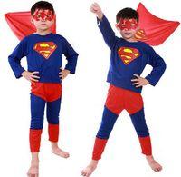 Wholesale Batman Cartoon Suits - 150sets 2016 5 color Spiderman Superman Batman Zorro Halloween Costume Suits Kits Kids BABY long sleeve superhero costume cosplay set