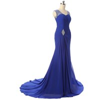 Wholesale Dress Long Elegant Photo Real - 2017 Elegant Beaded Mermaid Evening Dress Women Wear Lace Up Backless Party Prom Gowns Sweep Long Formal Evening Gowns