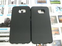 Wholesale S Shape Phone Cases - Matte Elegant S Line Shape TPU Gel Case For Samsung Galaxy S6 G920F G9200 Mobile Phone Rubble Skin Black Cover