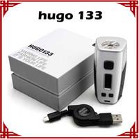 Hot selling [ sp ] 1 pcs HUGO VAPOR HUGO133 133W Vape Box Mod TPC Mode VS Hcigar VT133 Hugo Vapor Box Mod E-cigarette Mods
