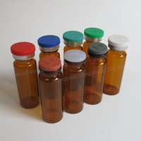 Wholesale Amber Glass Bottles 2oz - 24 x 15ML Amber Glass Bottle With Flip off Cap, 15cc Brown Glass Vials, 1 2oz Glass Container,Amber Bottle