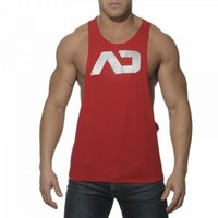 Wholesale Loose Cotton Tanks - 2016 Addicted Men's Sport Singlets Gym Tank Top Muscle Vest Loose Sleeveless Shirt Bodybuilding Stringer Fitness Tops
