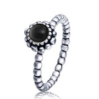 Wholesale Black Birthstone - 197 Wholeasle Fashion 925 Sterling Silver Libra Birthstone Ring European Fine Jewelry Rings For Women Birthday wedding Anniversary Gift
