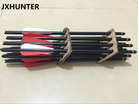 Wholesale Alloy Bolts - 12 pieces Archery hunting 13.5 inch aluminum alloy crossbow arrow bolts for shooting and hunting jyx0416