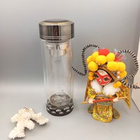 Wholesale Double Layer Glass Filter - Heat-resisting Glass Water Bottle 19*6.6cm Double Layer Vacuum Cup Stainless Steel Tea Strainer Office Glass Cup Office Filter Tea Tumbler