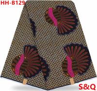 Wholesale Super Wax Hollandais - High quality 2017popular fashion super wax hollandais african wax prints fabric dutch wax fabric for sewing 6yards cotton fabric HH-B129