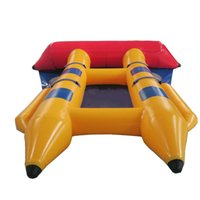 Wholesale Boat Fish Games - Inflatable Water Games Banana Boat Inflatable Fly Fish Banana Boat 4 People Playing On The Beach For Sale