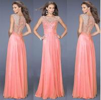 Wholesale Lace Maxi Dress Sale - Hot Sale ! 2015 Women Sexy Lace Chiffon Dress Fashion Lady O-neck Sleeveless Long Party Dresses S-L