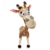 "Wholesale Cute Giraffe Stuff - 1pcs 12"" 35CM Long Neck Giraffe Stuffed Plush Toy Madagascar 3 Cute Deer Doll for Kids High QUality"