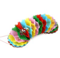 Wholesale Large Cloth Flower - 50PCS Colorful Garland (pull flower) Large size Stage Magic Trick Accessories Illusions Close Up Fun Magic Classic Gimmick
