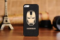 Wholesale Cool Cover Cases 4s - Super Hero Face Ultra-thin Cool Cartoon Phone Case Cover For iPhone4 4S 5 5s 5C SE 6 6s plus